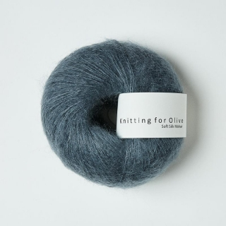 Soft Silk Mohair Dusty Petroleum Blue