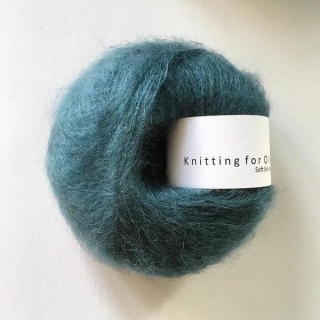 Soft Silk Mohair Petroleum Green